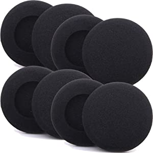 Foam Ear Pad Replacement Cushions, Headphone Earphone Headset Disposable Sponge Covers (45mm - 1.8