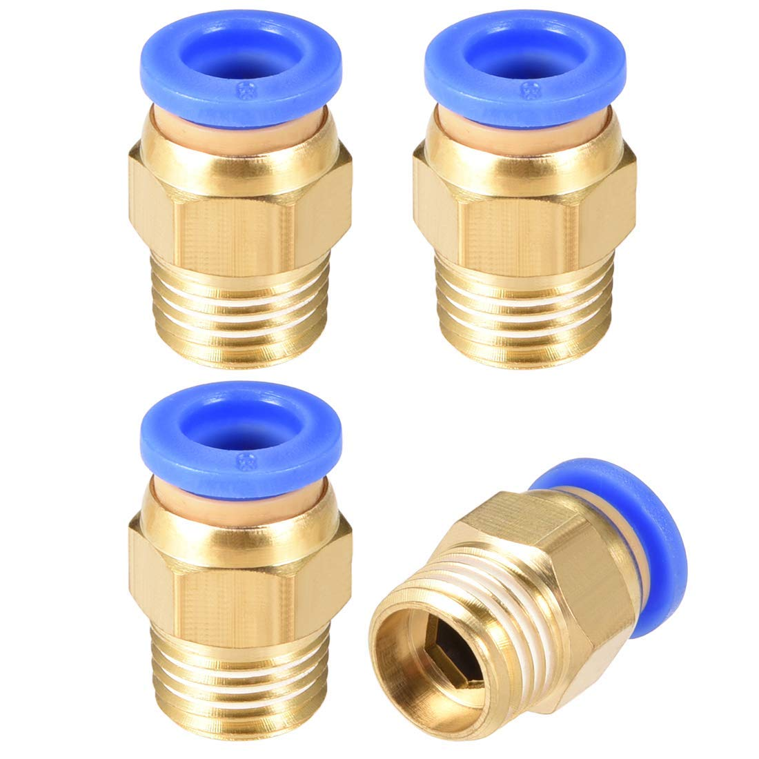 Straight Pneumatic Thrust for Quick Connect Connections G 1//4Male x 8 mm OD Tube 4 Pieces