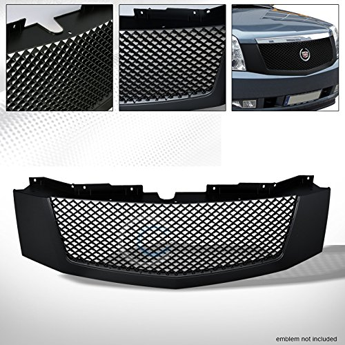 R&L Racing For 2007-2014 Cadillac Escalade Matte Black Finished Sport Mesh Front Hood Bumper Grill Grille Replacement - Racing Bumper 2007