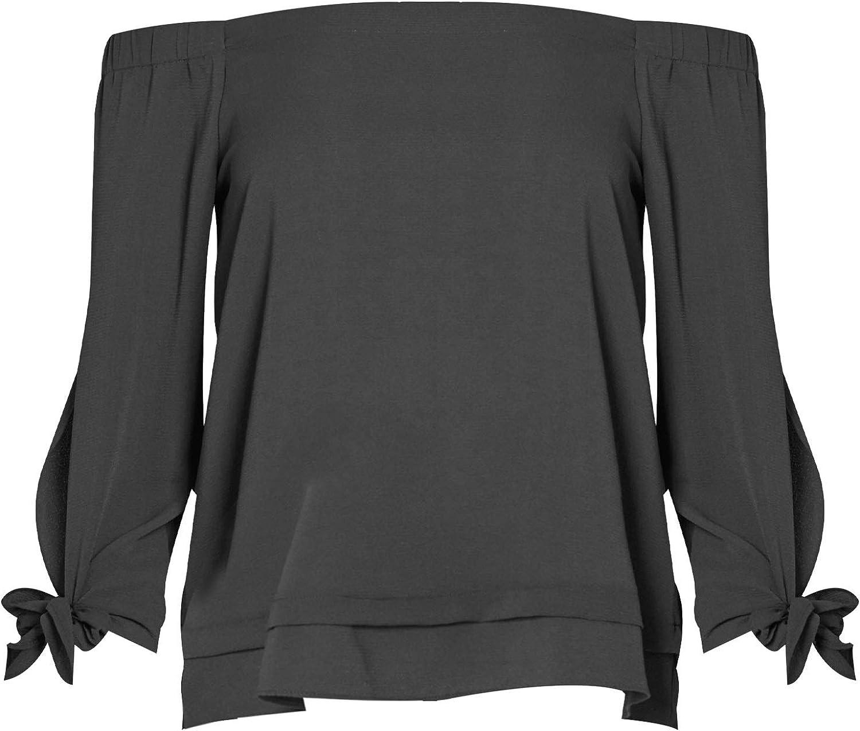 PERSEPHONE Off Shoulder Long Sleeve Blouse Top