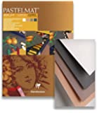 (24 x 30 cm, Card Pad No 2) - Clairefontaine 24 x 30 cm Pastelmat Glued Pad in Assorted Colours