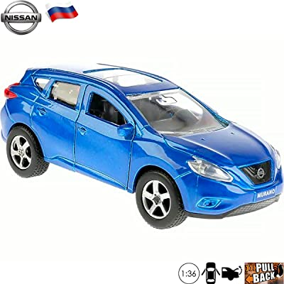 Diecast Cars 1:36 Scale Model Nissan Murano Third Generation Blue Mid-Size Crossover SUV - Russian Collectible Car Toys: Toys & Games