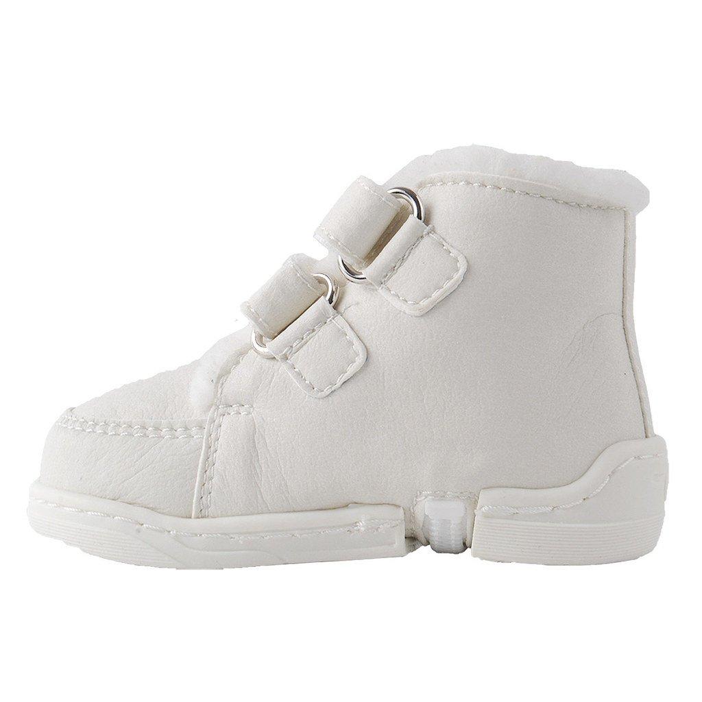 KK Baby Winter Sneaker Lauflernschuhe Krabbelschuhe M/ädchen Jungen Wei/ß