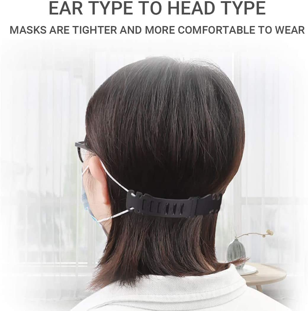 Zhongmin Transparent Mask Belt Buckle Anti-Tightening Ear Protector Decompression Holder Hook Ear Strap Accessories Ear Grips Extension Mask Buckle Ear Pain Relieved(5PCS)