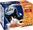 Felix Sensations Meaty Steaklets 12 x 100 g (Pack of 4, Total 48 Pouches)