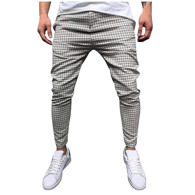 Amazon.com: Pantalones informales para hombre, cintura ...