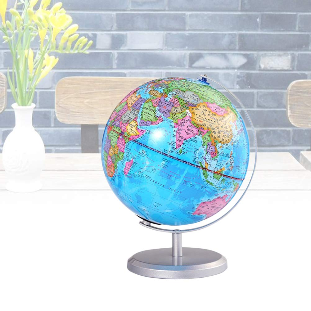 20cm HD Globe Desktop Globe World Globe with a Stand World Map Kids Desktop World Map on
