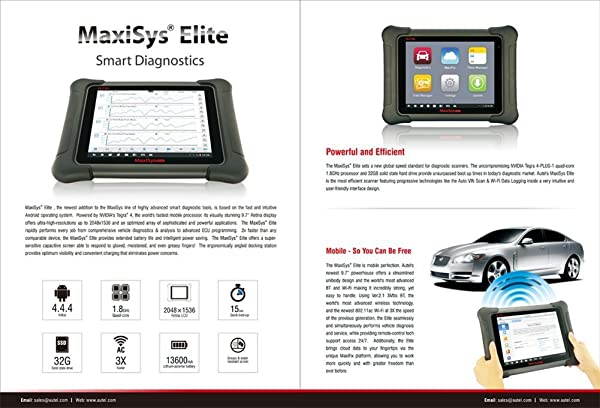 Autel Maxisys Elite is a smart dianostics can tool with all the functions and services of MS906BT