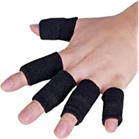 JoyFit - 10 pcs Finger Support, Sleeve, Protector with Soft Comfortable Cushion Pressure for Cricket, Volleyball, Gym, Basketball, Badminton, Baseball, Table Tennis, Boating, Biking, Boating, Cycling