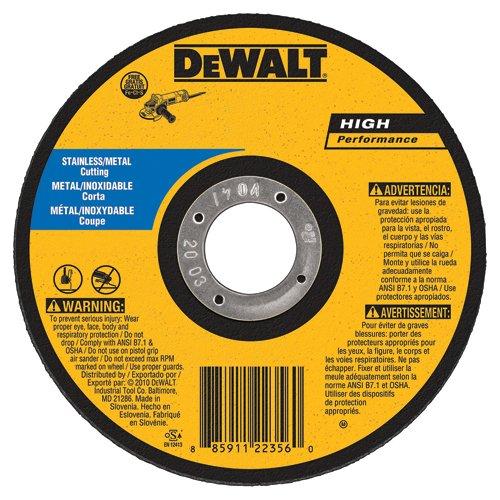 DEWALT DW8725S Cfree Thin Cutoff Wheel, 6-Inch x .045-Inchx