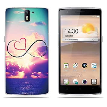 DIKAS Funda para OnePlus One, Silicona Funda Slim Fit Gel Transparente Carcasa Case Bumper de Impactos y Anti-Arañazos Espalda Cover para OnePlus One- ...