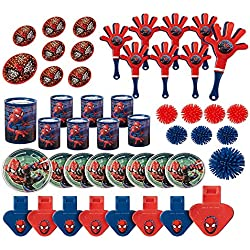 Marvel Spiderman Birthday Party Supplies 48pc Mega Value Favor Pack