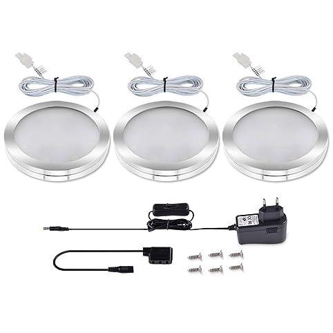 LEDGLE Set di 3 Luci LED sottopensile 550 lumen Faretti LED 6W ...