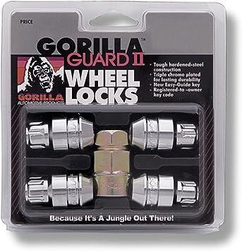 Gorilla Guard Wheel Locks Acorn Bulge Seat 14x1.5 61641 14mm x 1.50 Chrome