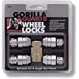 Gorilla Automotive 61631N Chrome Acorn Gorilla Guard II Wheel Locks - Set of 4 (12mm x 1.50 Thread Size)