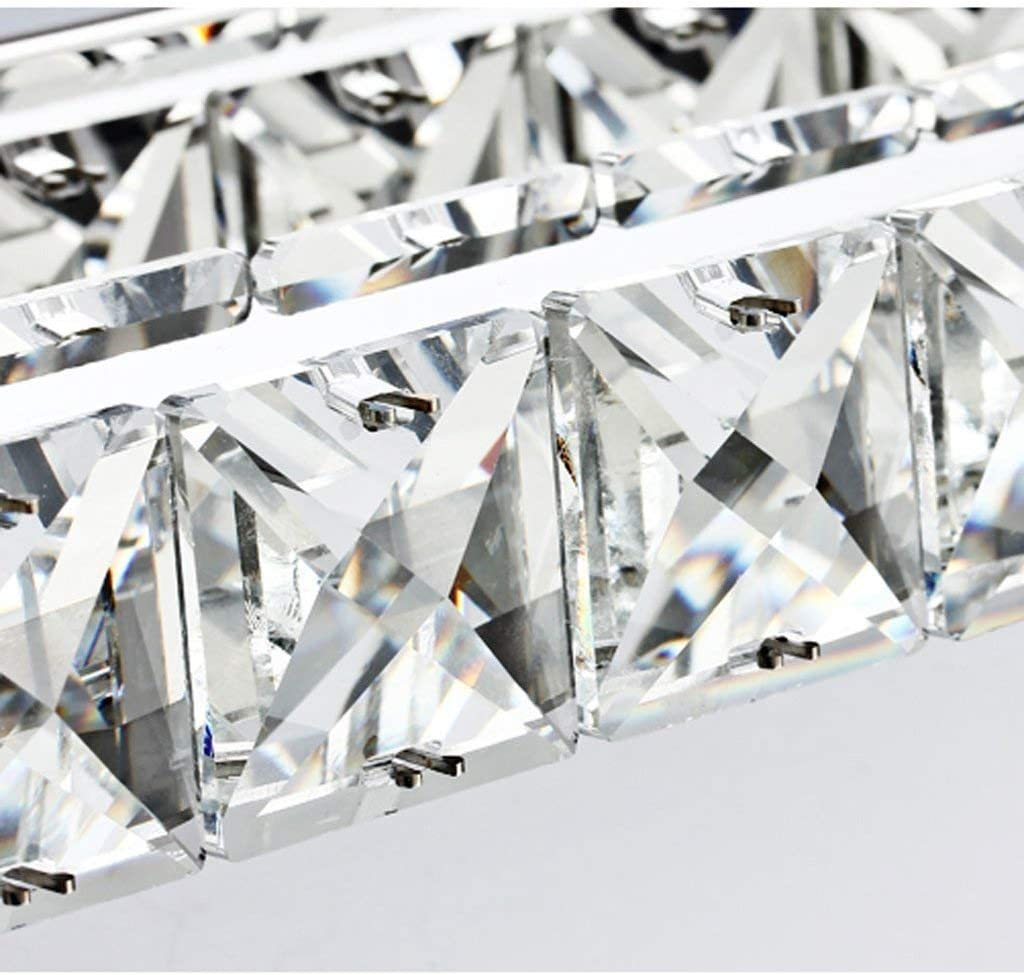 LAMP Luz Hogar Baño Espejo Faros LED Modo Indicador de baño de acero inoxidable K9 Fuego antes de espejo de cristal tiene,10w (40cm luz blanca) 10w (40cm Luz Blanca)