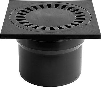 acero inoxidable, 150 x 150 mm, DN 50, ultraplano, 55 mm de profundidad, cierre de olor Chudej Desag/üe para suelo o ducha