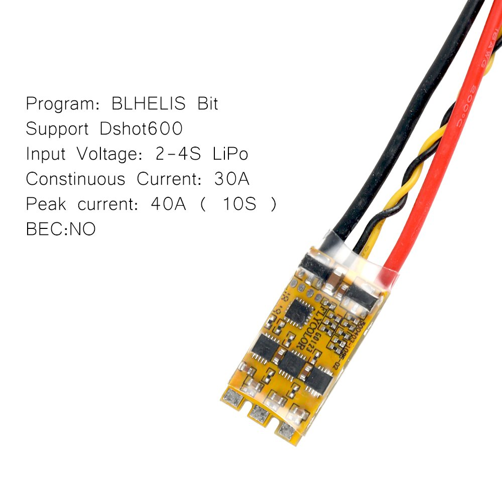 Automatically Input signal Detected Crazepony 4pcs Flycolor BLHeli/_S 30A ESC with ESC Protective Cases,30A BLHeli S 2-4S Lipo Support Dshot 600 Electronic Speed Controller by