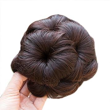 Femme Messy Chignon de Cheveux Ondulés Extension