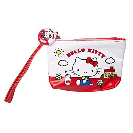 Hello Kitty - Cartera para mujer rojo rojo