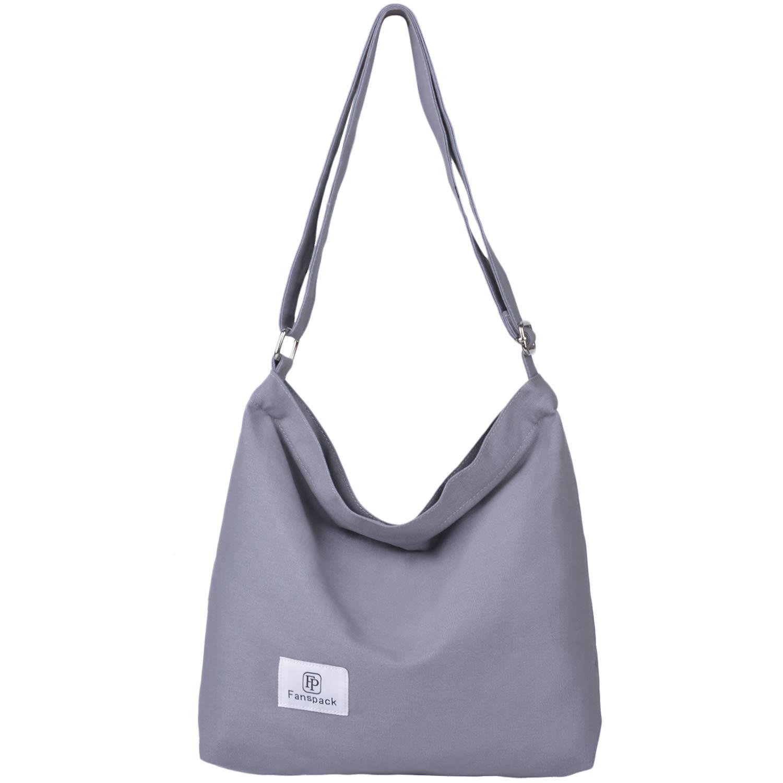 Bolsos Mujer, Fanspack Bolso Bandolera Mujer de Lona Hobo Bag Bolsos de Crossbody Bolso Shopper Multifuncional (Azul)