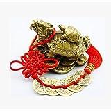 ( イスイ ) yishui 龙 ロングイ 神龟风水摆件铜五帝钱附送商売繁盛招财提升的