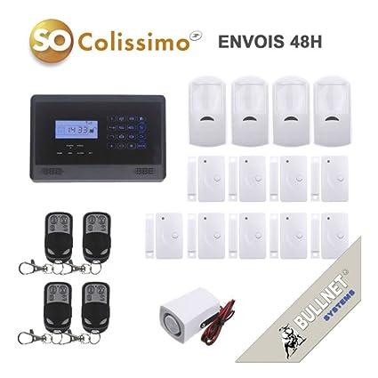 Alarma inalámbrica para el hogar por telefonía GSM negro ...