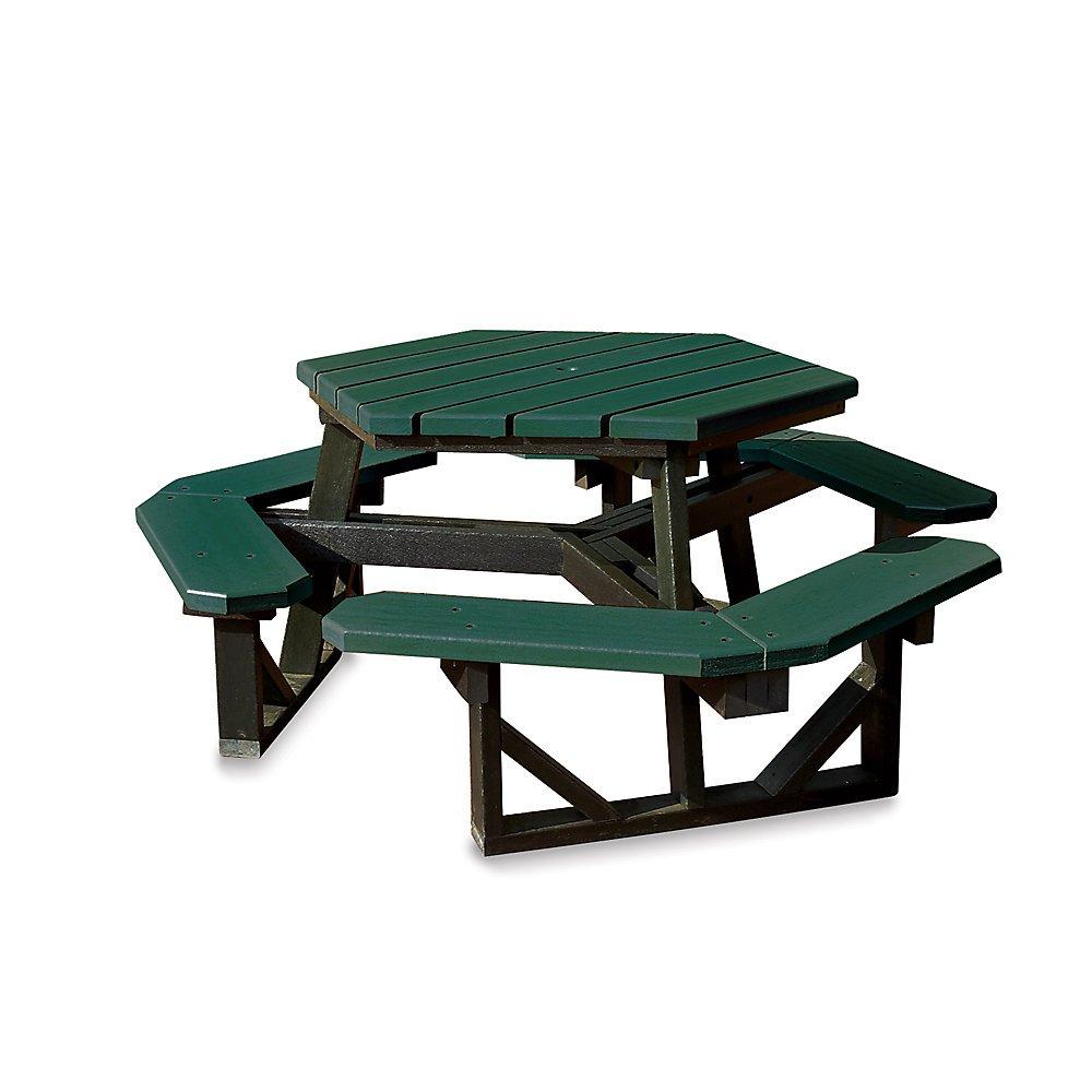 Amazon.com: Jayhawk Plastics Hex Picnic Table - 6\'L - Standard ...