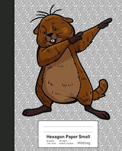 Hexagon Paper Small: Beaver Funny Groundhog Book (Weezag Hexagon Paper Small Notebook)