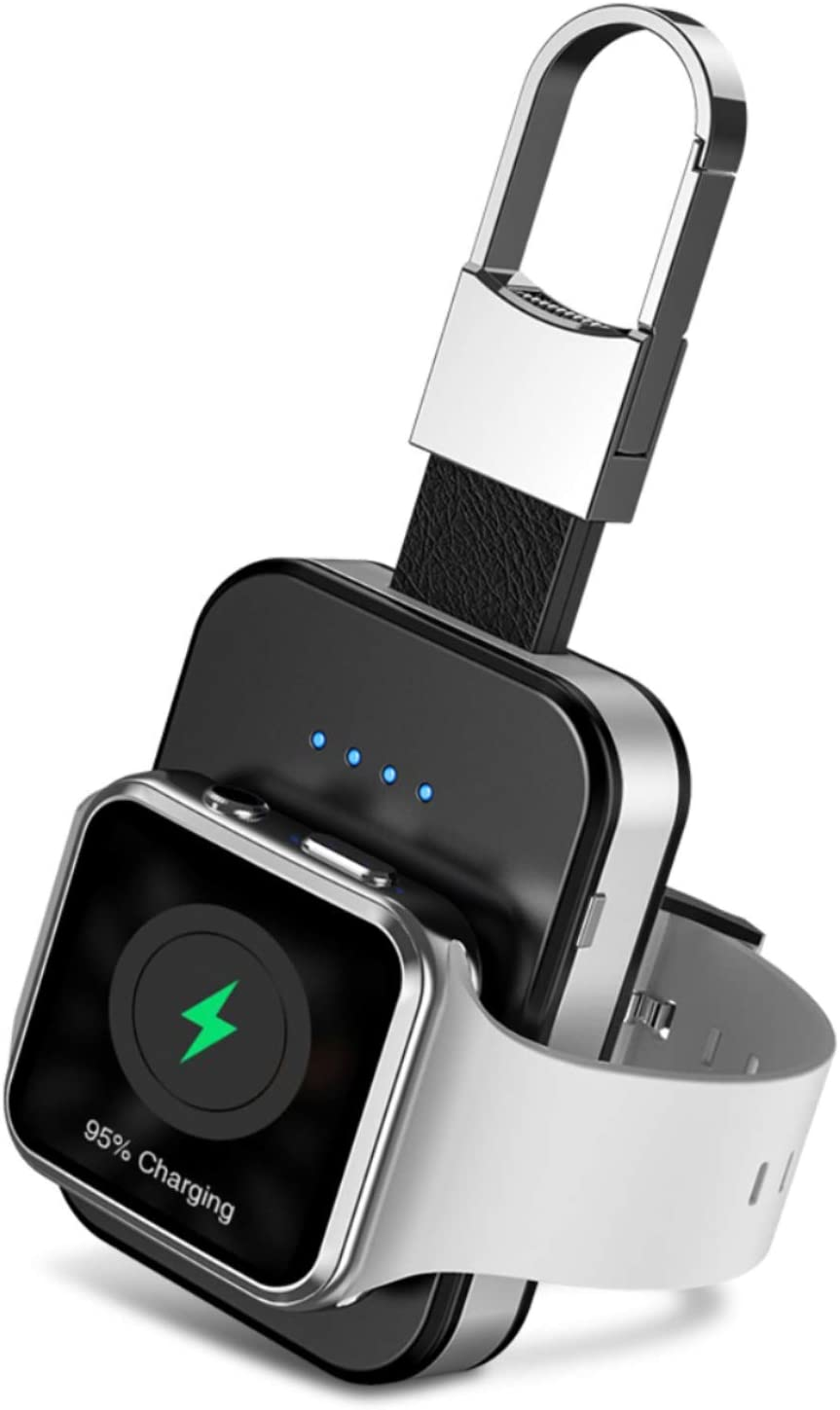 RéveRévem Portable Wireless Charger for Apple Watch, [Apple Certified for Apple Watch Series 5/4/3/2/1 - MFI Certified] Keychain Power Bank, Watch Charger for Travel - Built in 1000mAh
