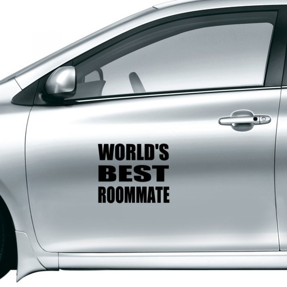 Amazon com worlds best roommate graduation season car sticker on car styling decal motorcycle stickers for car accessories gift home kitchen