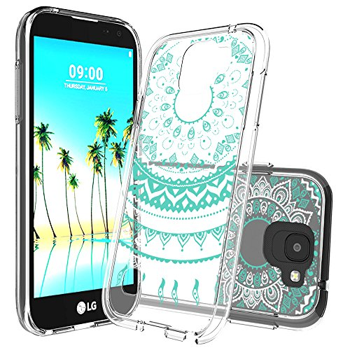 LG K3 2017 Case With HD Screen Protector,AnoKe [Scratch Resistant] Colors Dream Catcher Mandala Flower Cute Grils Ultra Slim Acrylic Hard TPU Bumper Hybrid for LG K3 2017 TM CH - Scratches From Glass Remove Can U