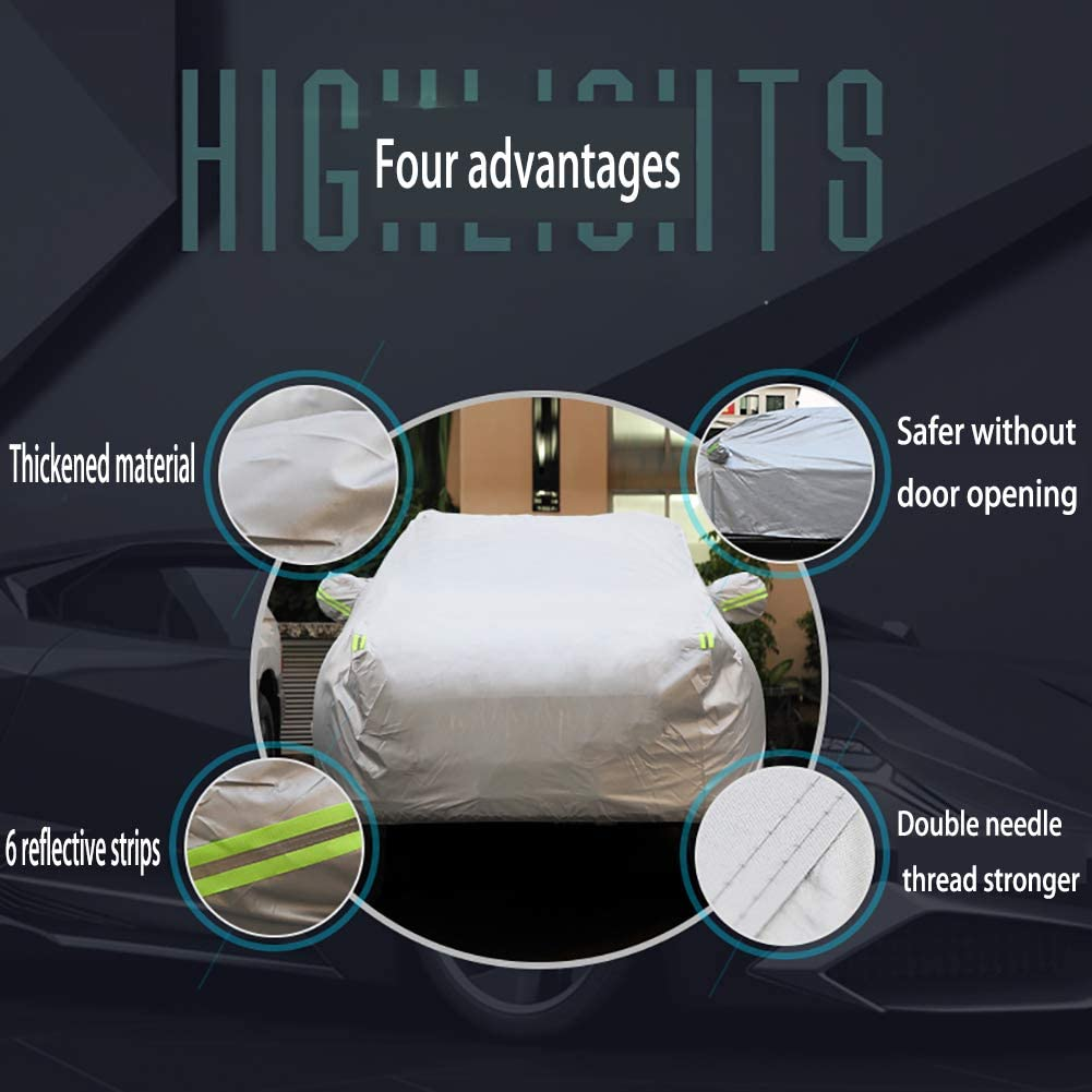 Thickened Waterproof, 208-78-59 inches Universal Fit for Sedan z-snowman Car Cover Waterproof All Weather for Automobiles