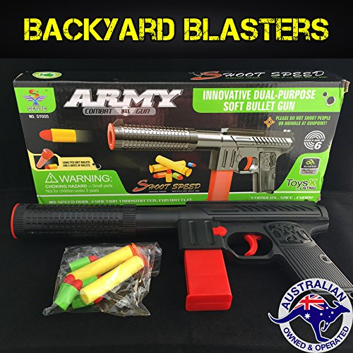Backyard Blasters Toy Gun - KG9 Rubber Bullet sub-Machine Pistol ()