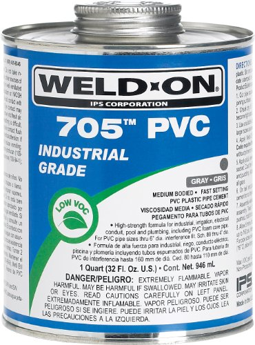 weld-on-705-10094-industrial-grade-plumbing-cement-medium-bodied-very-fast-setting-1-pint-can-with-a