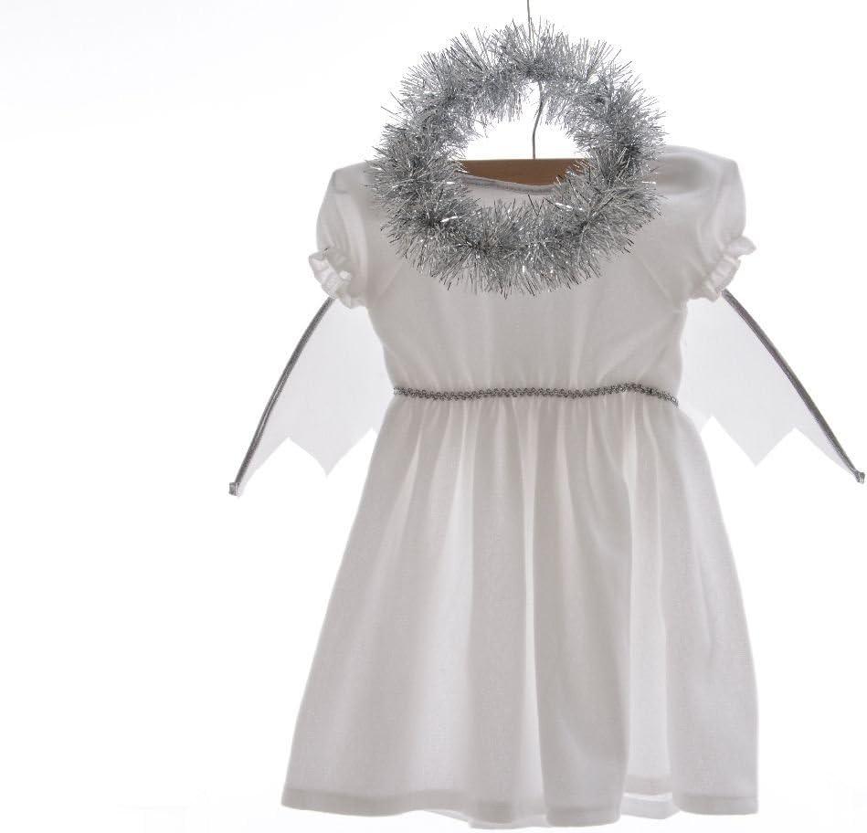 Izaneo – Disfraz Niña Ángel blanco/plata: Amazon.es: Hogar