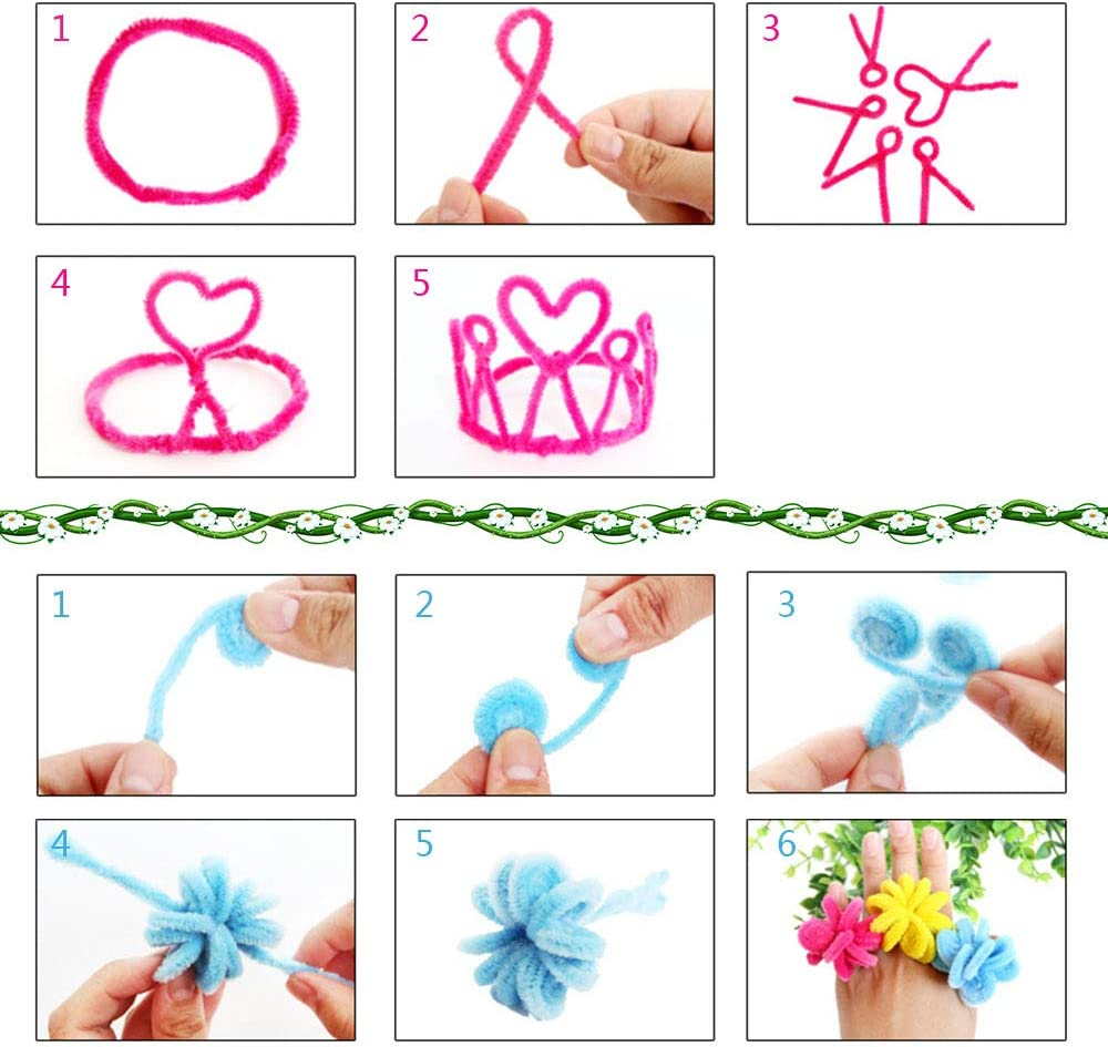 430 Pcs Craft Supplies Set 130 Pcs Self-Sticking Wiggle Eyes and 100Pcs Pompoms for DIY Crafts Decorations Creative School Projects by FKEYTO Pipe Cleaners Set Which Includes 200Pcs Chenille Stems