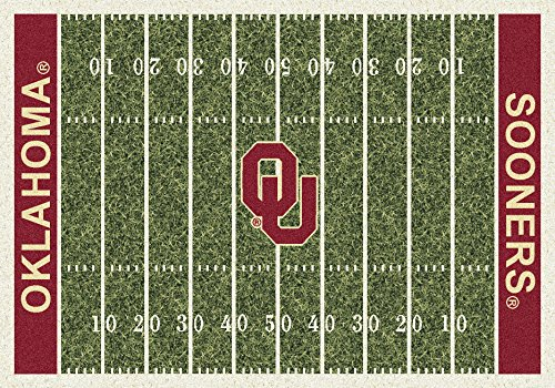 American Floor Mats Oklahoma Sooners NCAA College Home Field Team Area Rug 5'4