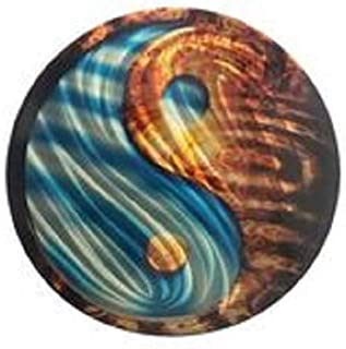 product image for Fire and Water 16 inch Round Wall Art
