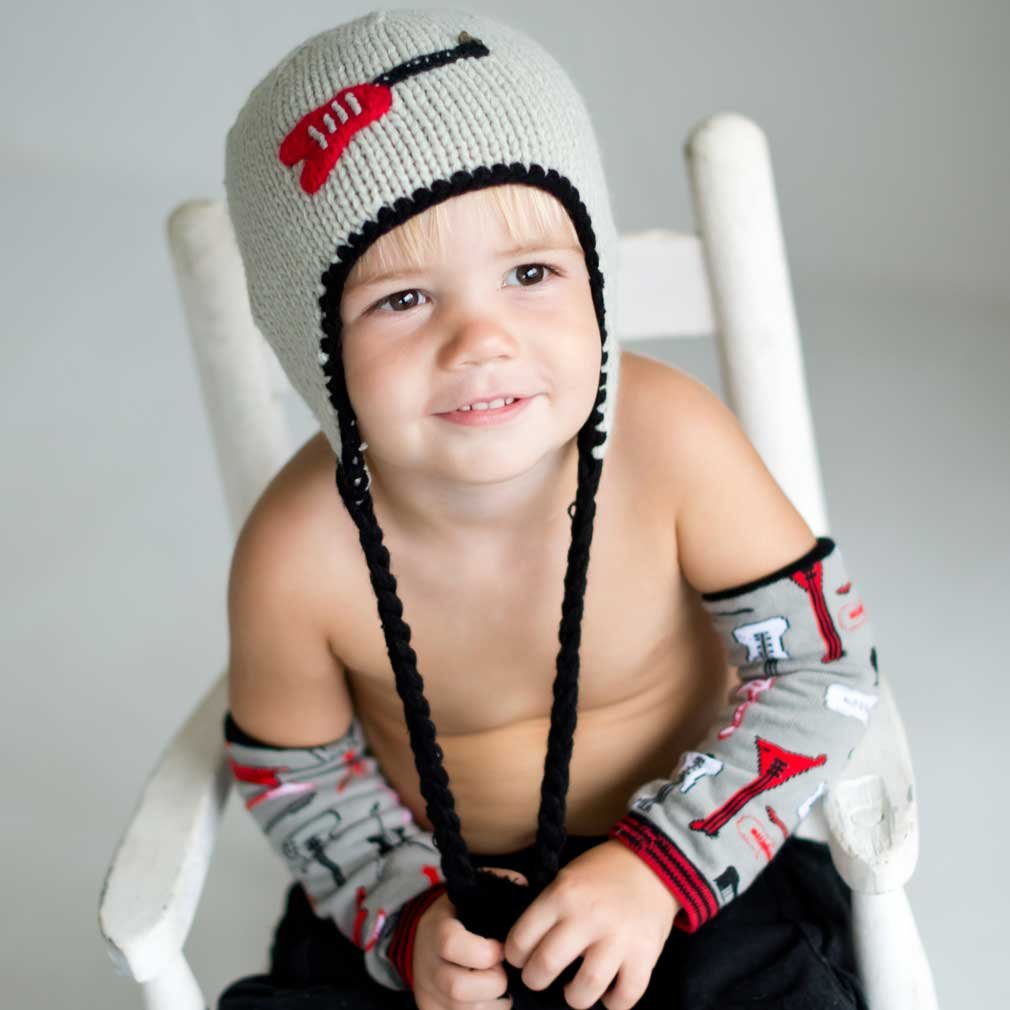 Huggalugs Rockstar Guitar Childrens Beanie Hat