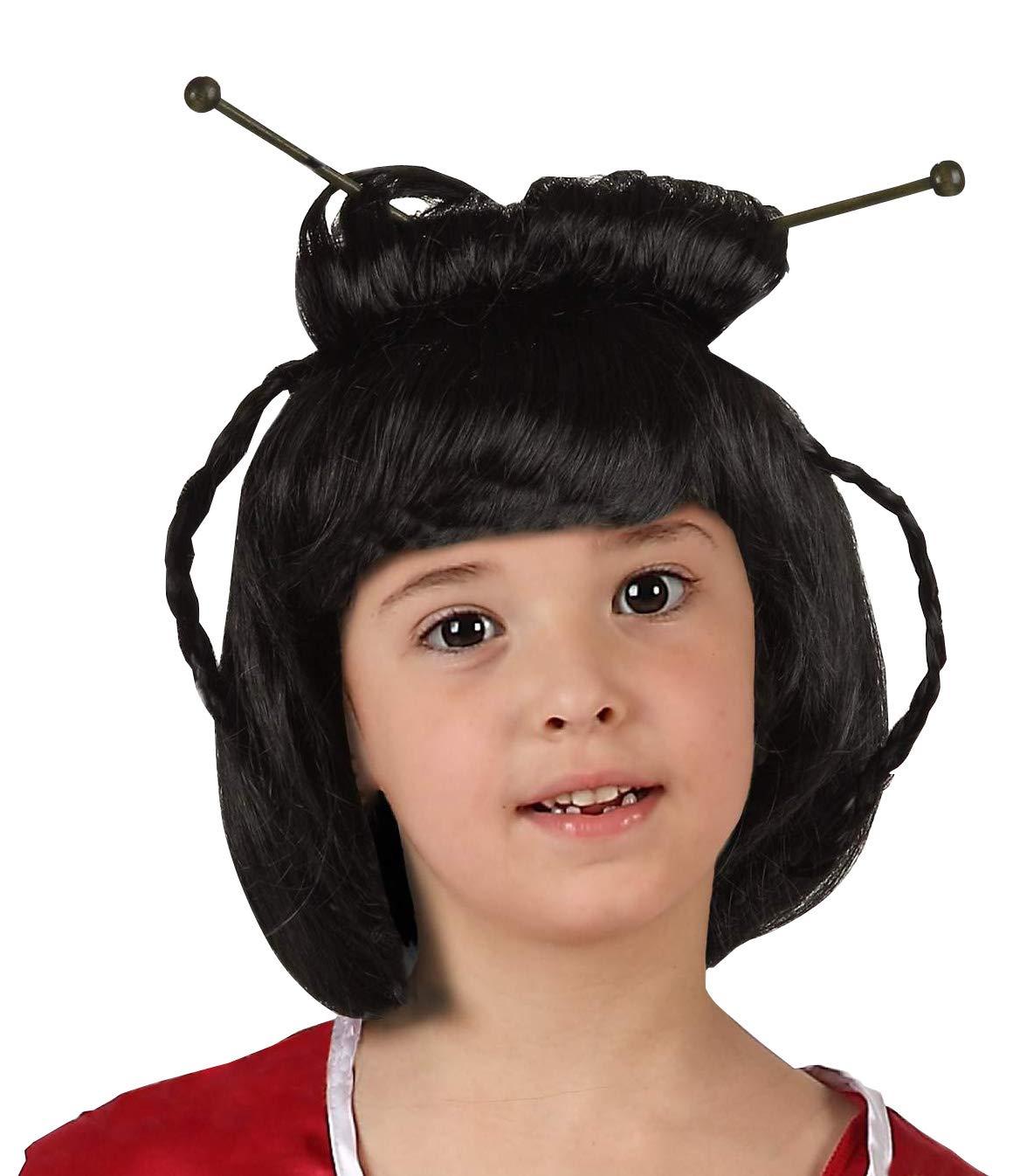 Creative peluca Geisha para un niño, Color Negro: Amazon.es ...