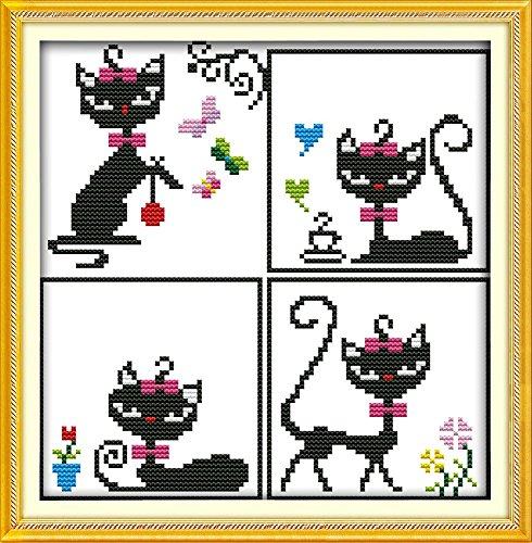 Disney Princess Afghans (Good Value Cross Stitch Kits Beginners Kids Advanced -Cat Princess 11 CT 11