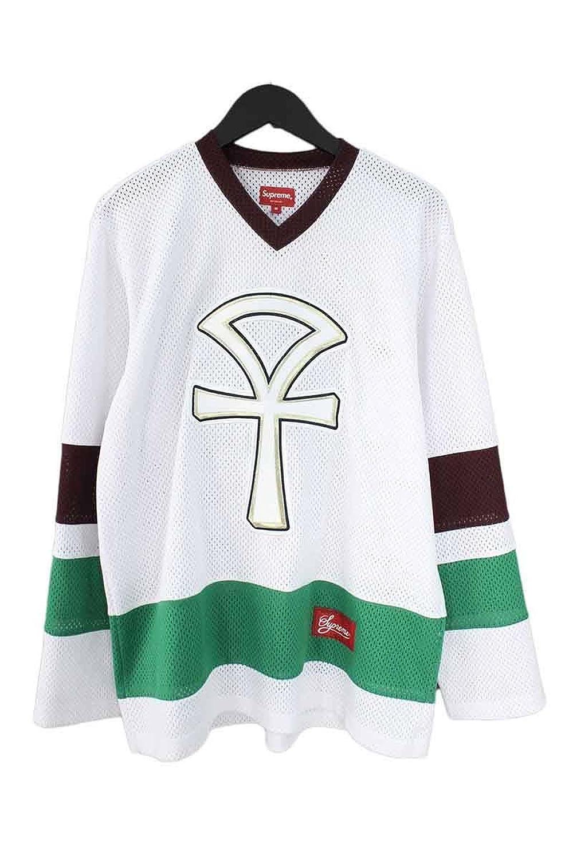 (シュプリーム) SUPREME 【18SS】【Ankh Hockey Jersey】アンクホッケーメッシュ長袖カットソー(M/ホワイト×グリーン) 中古 B07FM245JP  -