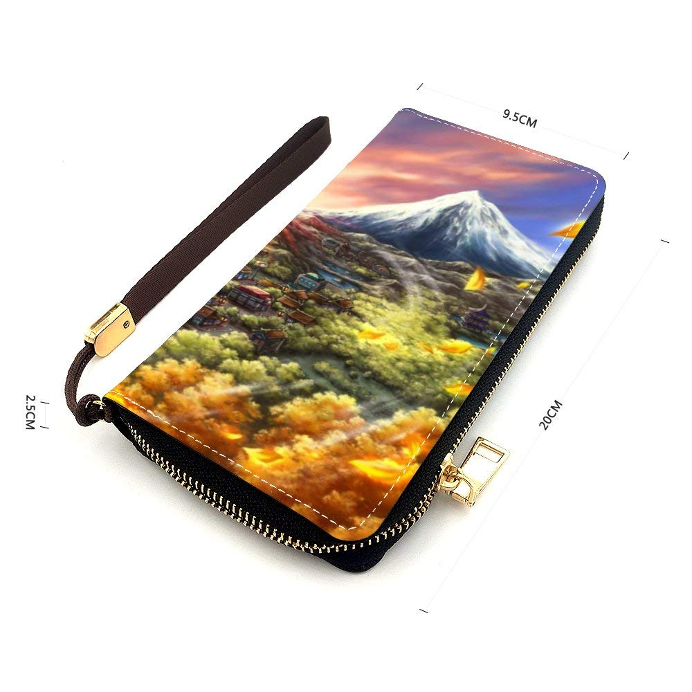 Coin Purses Leather Zipper Wallet Mini Pouch Long Handbag Natural landscape Nature Forest Tree Natural environment Woodland Old-growth forest Vegetation Biome 7.87x 4.13x 0.98