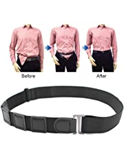 Near Shirt-Stay Belt, Womdee Hidden Shirt Keep Stays Belt for Men | Shirt Stays Adjustable Elastic Straps, Non-Slip & Wrinkle & Comfortable - Black