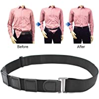 Near Shirt-Stay Belt, Womdee Hidden Shirt Keep Stays Belt for Men | Shirt Stays Adjustable Elastic Straps, Non-Slip & Wrinkle & Comfortable - Black