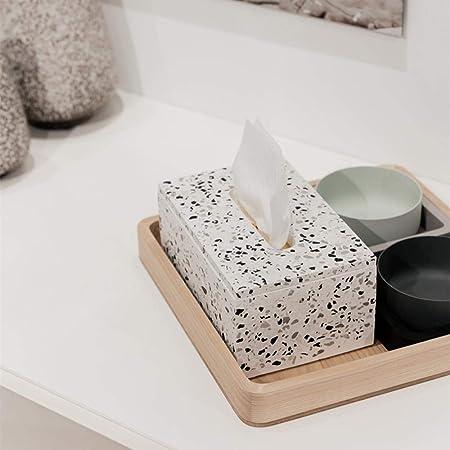 ZHIJING Caja De Pañuelos Cemento Terrazo Cubierta Kleenex para ...