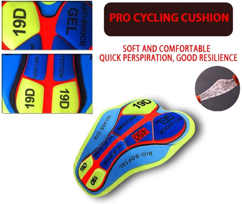 LWQ Herren Radtrikot Set Kurzarm,Radtrikot-Set Fahrrad-Tr/ägerhose atmungsaktive schnell trocknende MTB-Fahrradbekleidung f/ür den Sommer-A01/_3XL