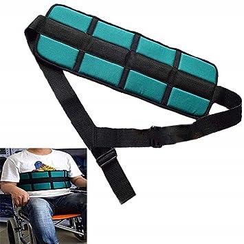Cinturón de seguridad acolchado para silla de ruedas, arneses cinturones seguridad fijos, cinturones seguridad para personas mayores, cinturón seguridad ...