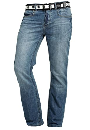 c47c10c1c2a2 CrossHatch Herren Jeans New Baltimore 32 Lightwash 30  Amazon.de ...